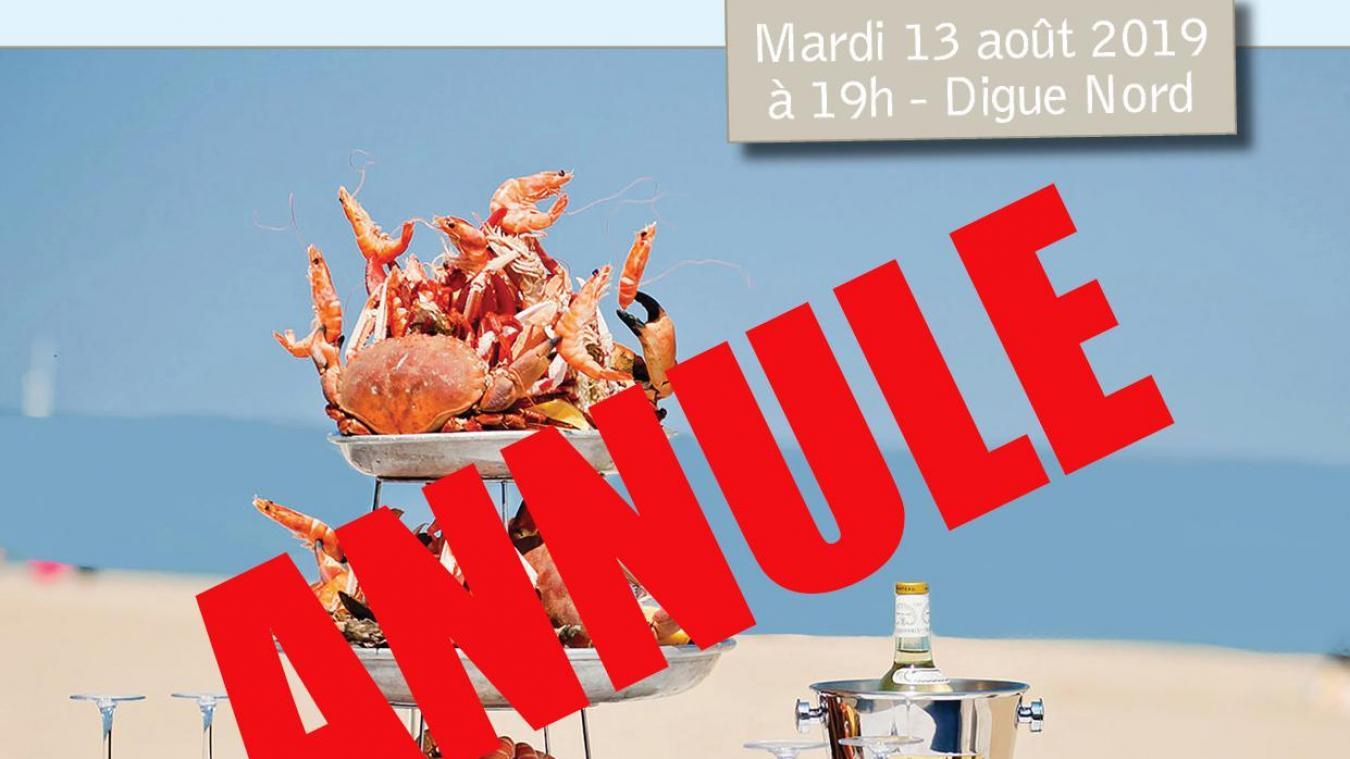 L'Opale, le dîner sur la digue, est annulé.