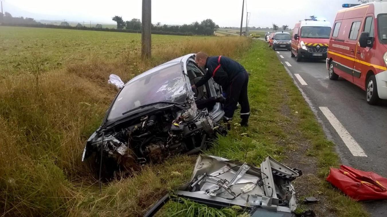Trois véhicules et un camion sont impliqués dans cet accident de la circulation qui s'est produit ce mardi 13 août à Herly vers 10h.