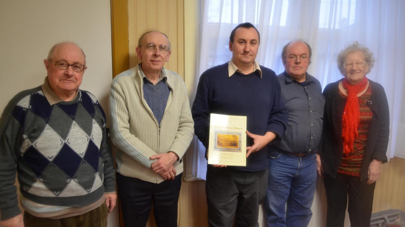 Germain Pouchain (à gauche) a collaboré à de nombreuses publications de l'association Alpha.