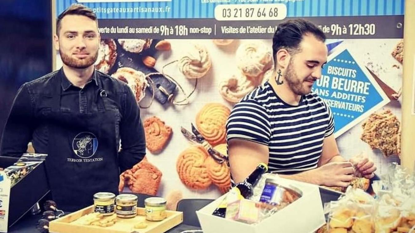 Lucas Maquinghen et Quentin Bonvoisin ont créé Terroir tentation, épicerie fine spécialisée dans la vente de produits du terroir des Hauts-de-France.