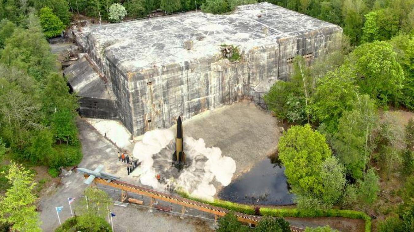 Un V2 grandeur nature s'est posé ce 30 juillet au Blockhaus d'Éperlecques.