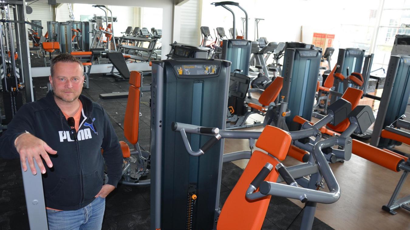 Antoine Millard, gérant de L'Orange Bleue d'Aire-sur-la-Lys, la semaine dernière, avant même la préouverture lancée lundi 19 août, inaugurant l'ouverture effective le 2 septembre.