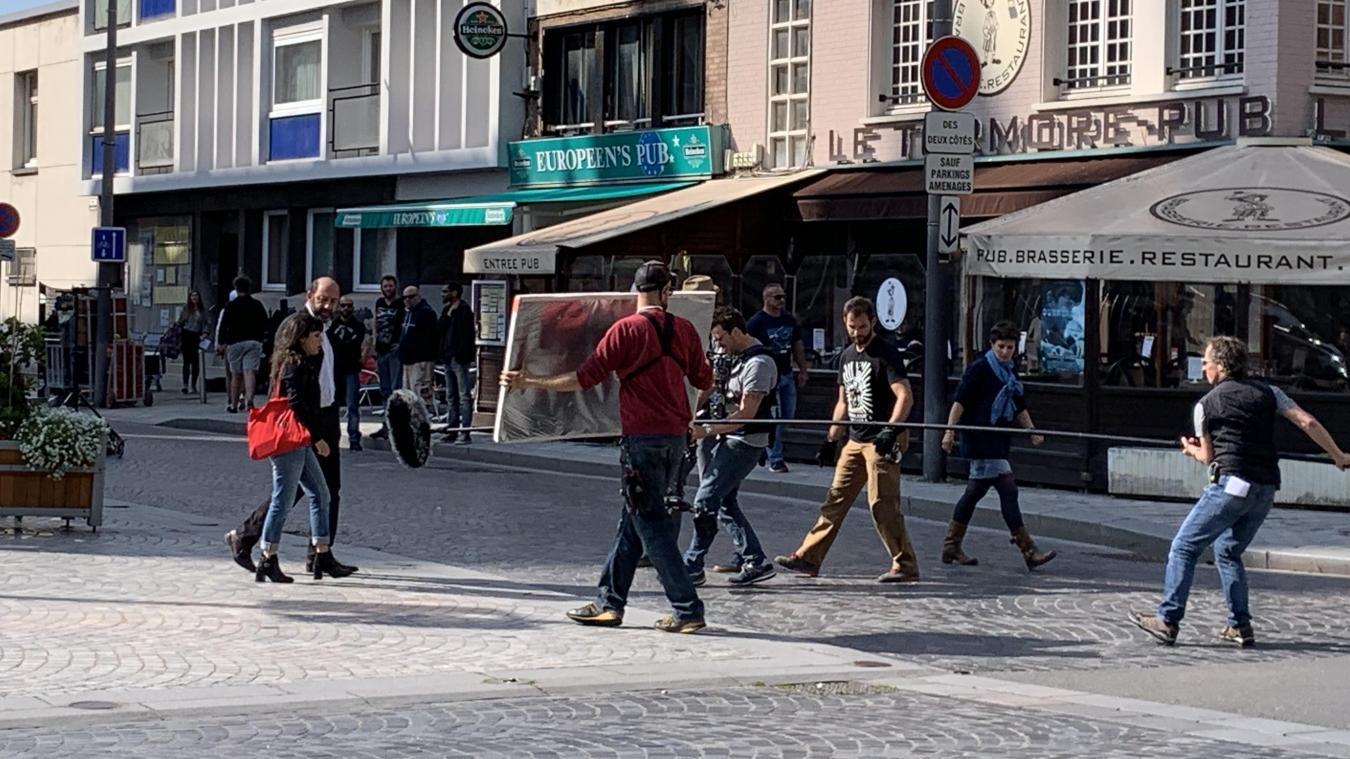 L'équipe de la série  Baron Noir  était en tournage près de la mairie.
