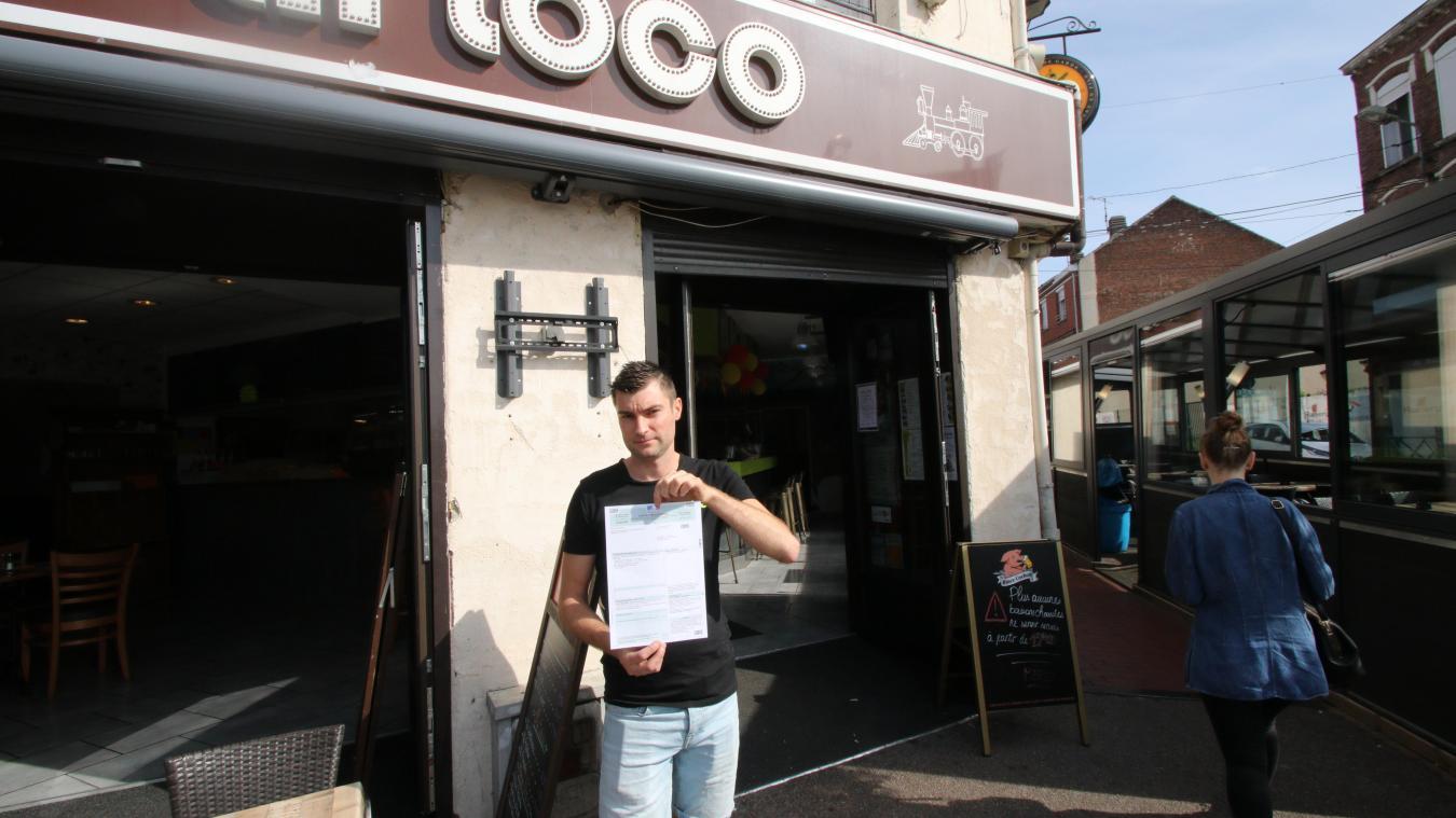 D'après le document reçu par la poste, le gérant de la Loco doit maintenant la somme de 180 euros. Il estime que c'est injustifié.