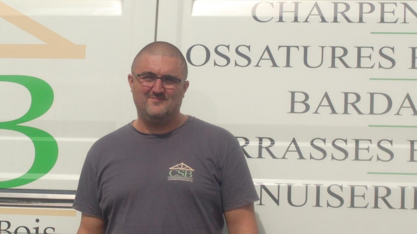 Rodrigue Dumont, nouvel artisan charpentier, installé à Coyecques.