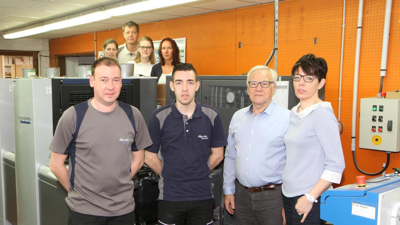 Aujourd'hui, sept personnes travaillent au sein de l'imprimerie desvroise.