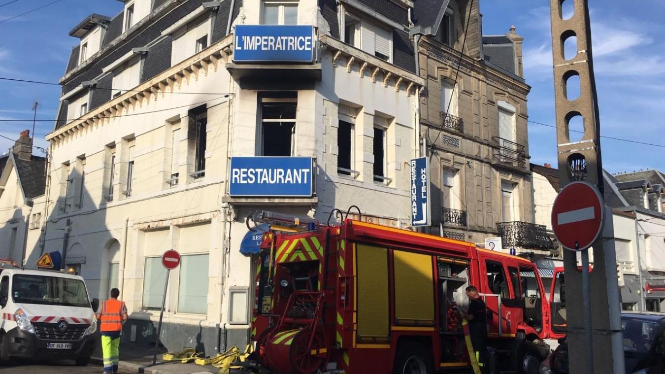 L'incendie s'est déclaré ce samedi 24 août au premier étage dans un appartement situé rue de la division Leclerc à Berck.