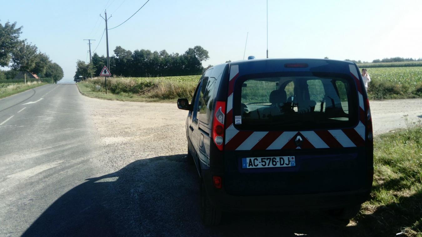 La brigade de gendarmerie a été prévenue dans la matinée.