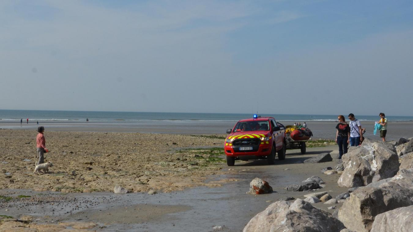 Les pompiers ont pris la victime en charge vers 10h30 sur la plage de Wimereux.