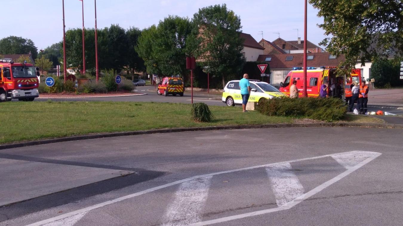 Calonne-Ricouart: une femme grièvement blessée après avoir été renversée au rond-point du Bateau (actualisé)