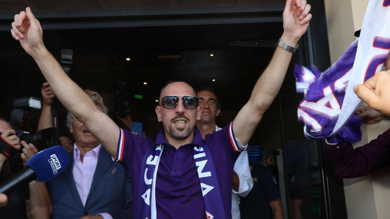 Franck Ribéry a signé à la Fiorentina