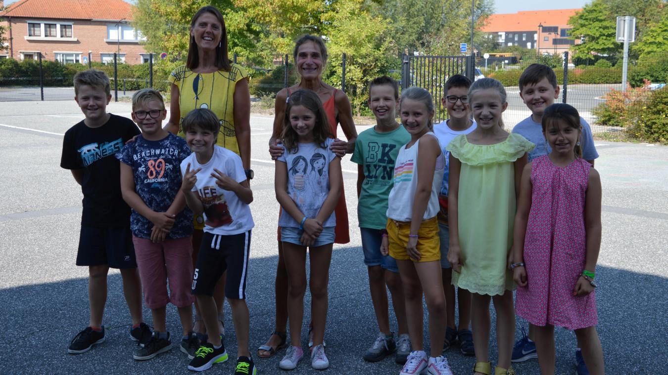 Une dizaine d'élèves de CM1 et CM2 ont pu faire une pré-rentrée de manière ludique à l'école René-Flament de Lestrem..