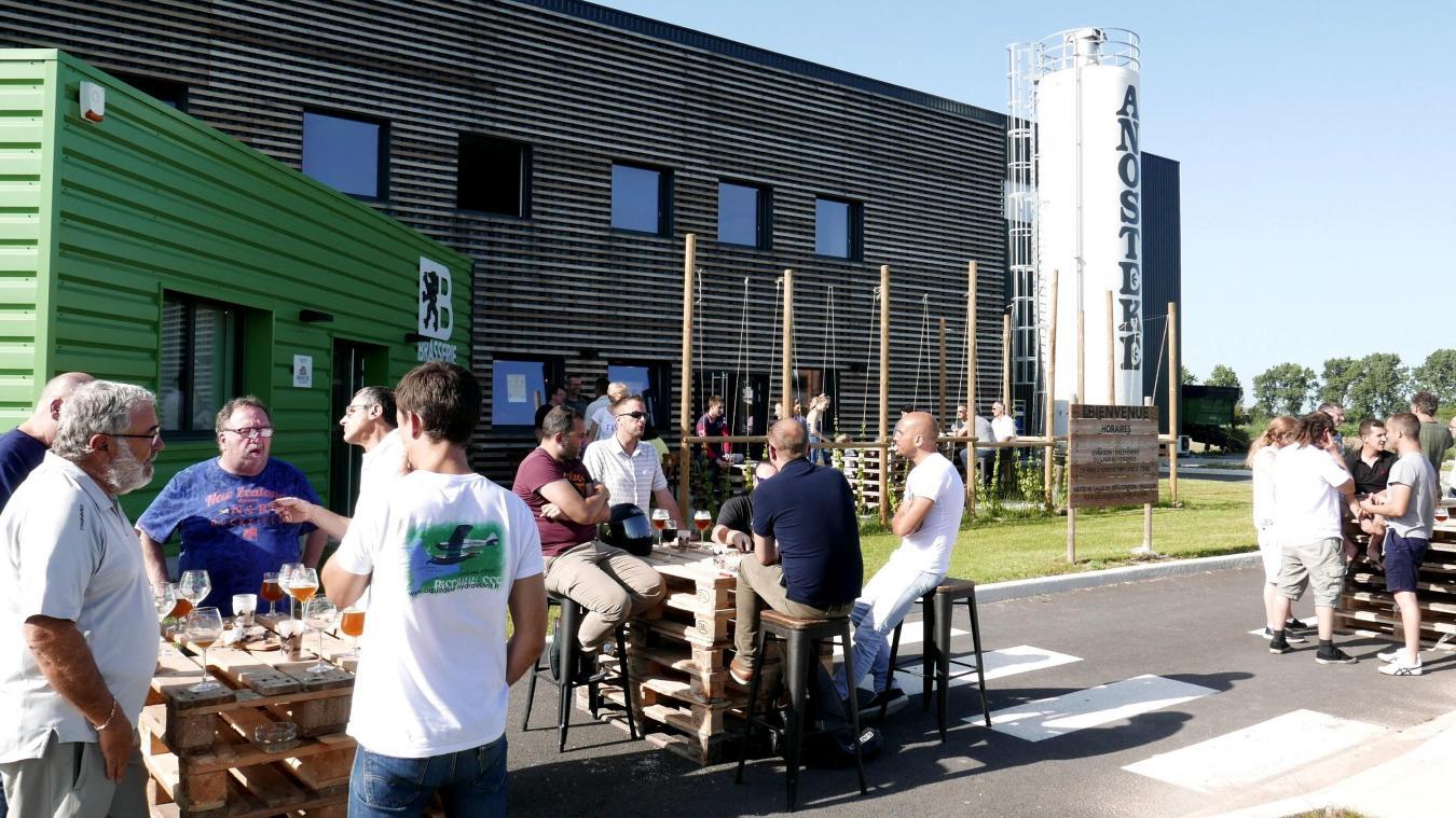 Les jeudis de l'Anosteké se déroulent sur le deuxième site de la Brasserie du Pays flamand, à Merville, où est produite l'Anosteké.