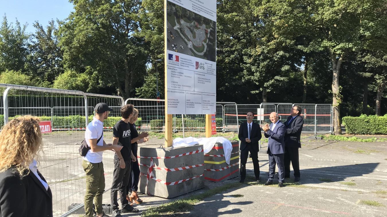 La première pierre a été déposée, samedi 24 août à 11 heures.