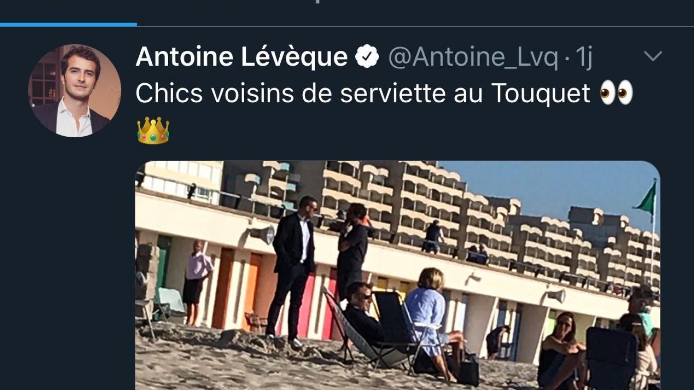 Le Touquet: bain de soleil sur la plage pour Emmanuel et Brigitte Macron