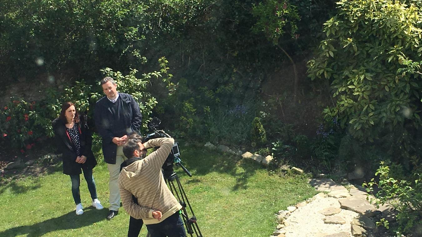 Adrien et Virginie ont accueilli une équipe de tournage de TF1 pour l'émisison Bienvenue Chez nous.