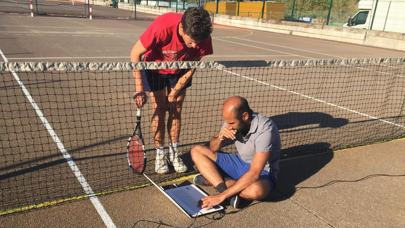 Louis Le Tarnec, Nicolas Megarbane et Azza Megarbane ont développé un logiciel de reconnaissance d'images pour le tennis.