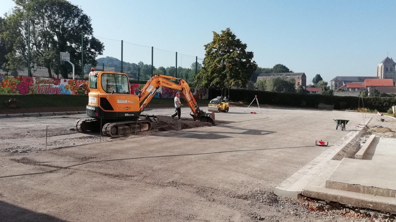 Ce mercredi 28 août, l'enrobé sera posé pour achever le chantier commencé en juillet.