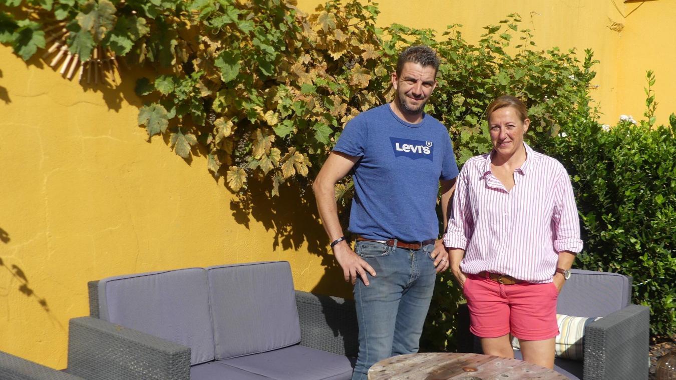 Renaud Demarcq et sa femme vont s'occuper de la gestion du bar à la foire de Lillers.