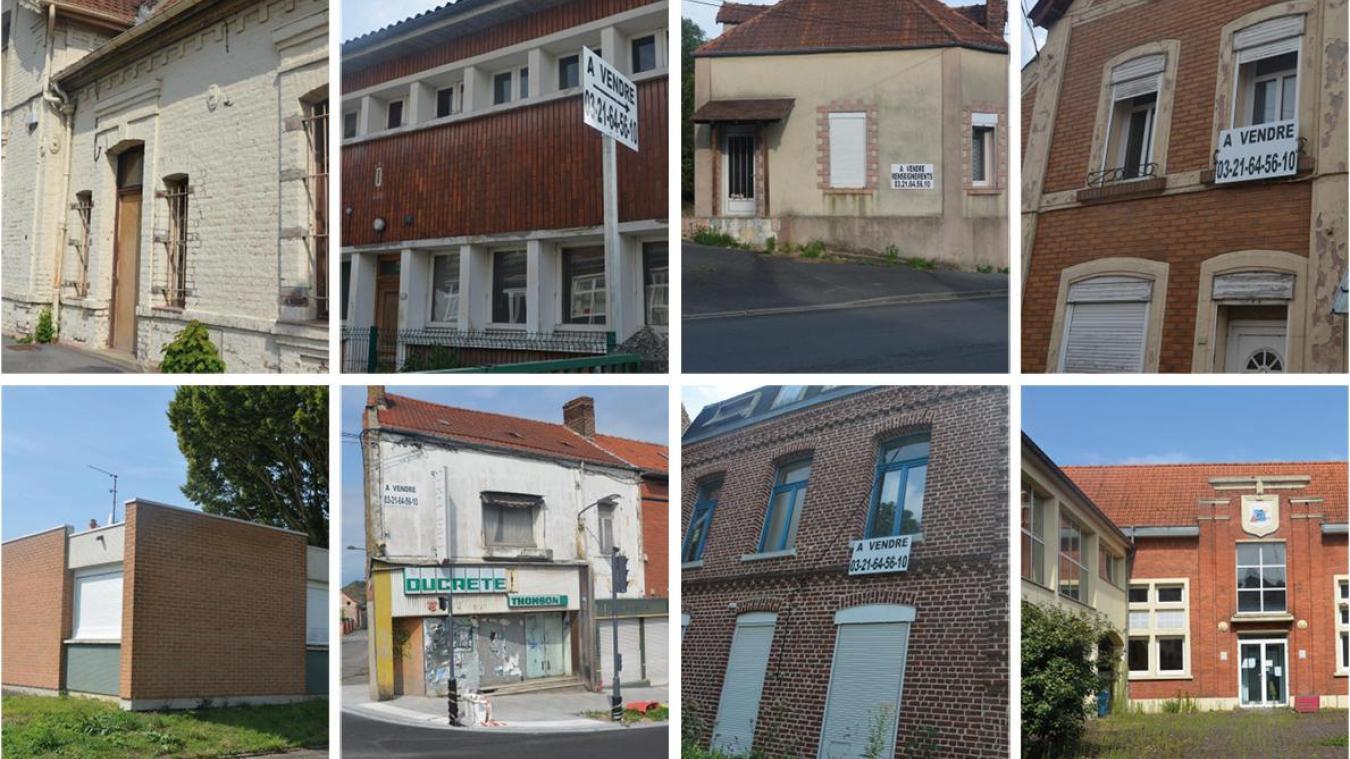Rue Basly, deux maisons sont à vendre. Toutes les deux pour le prix de 50 000 euros.