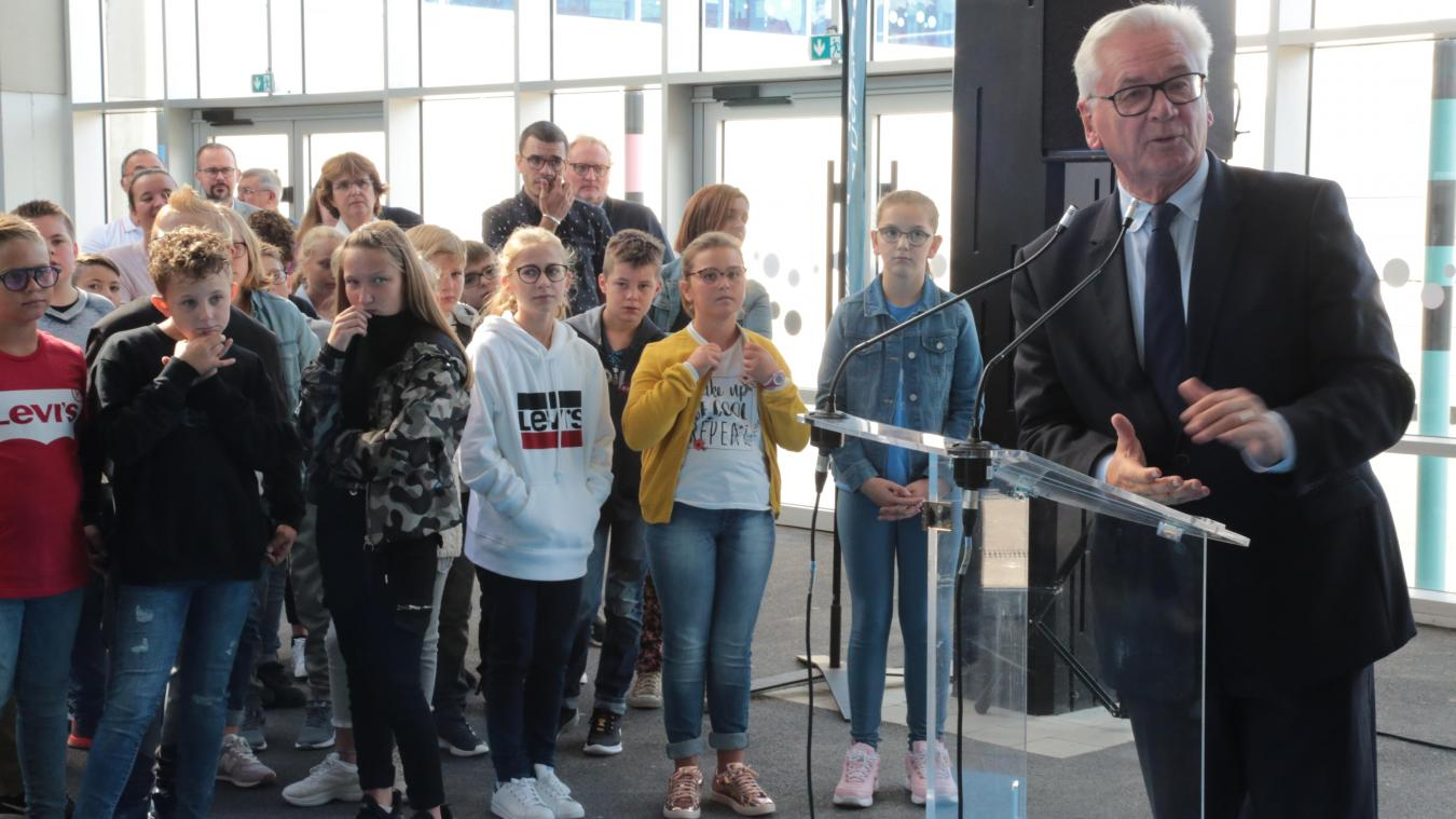Jean-Claude Leroy, président du Conseil départemental du Pas-de-Calais, a inauguré la réhabilitation et l'extension du collège Jean-Jaurès.