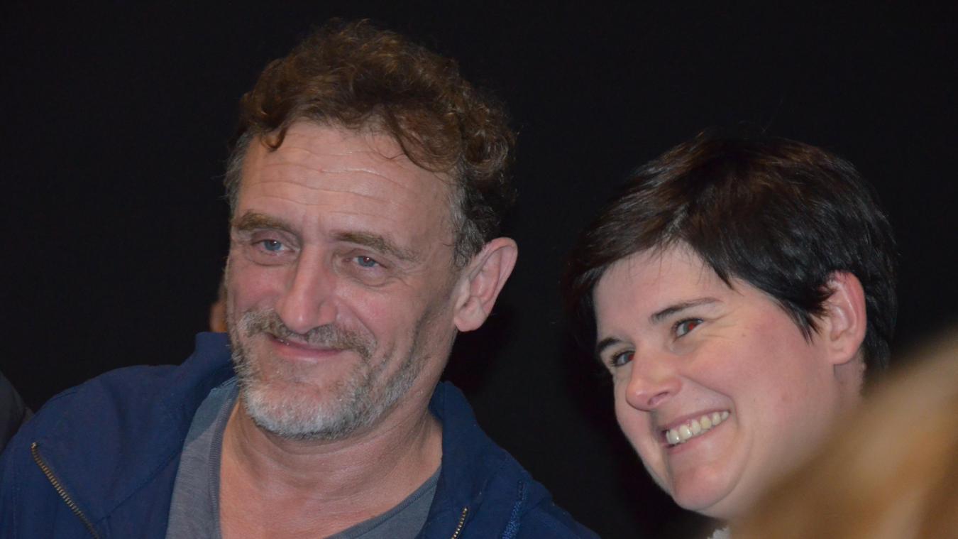 Jean-Paul Rouve s'est prêté au jeu des photos ce mardi 3 septembre, lors de l'avant-première de  Donne-moi des ailes  à Ociné.
