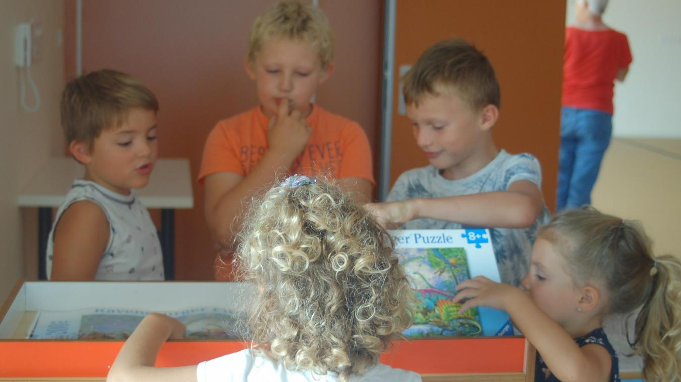 Les enfants ont volontiers découvert leurs nouveaux locaux quelques jours avant la rentrée.