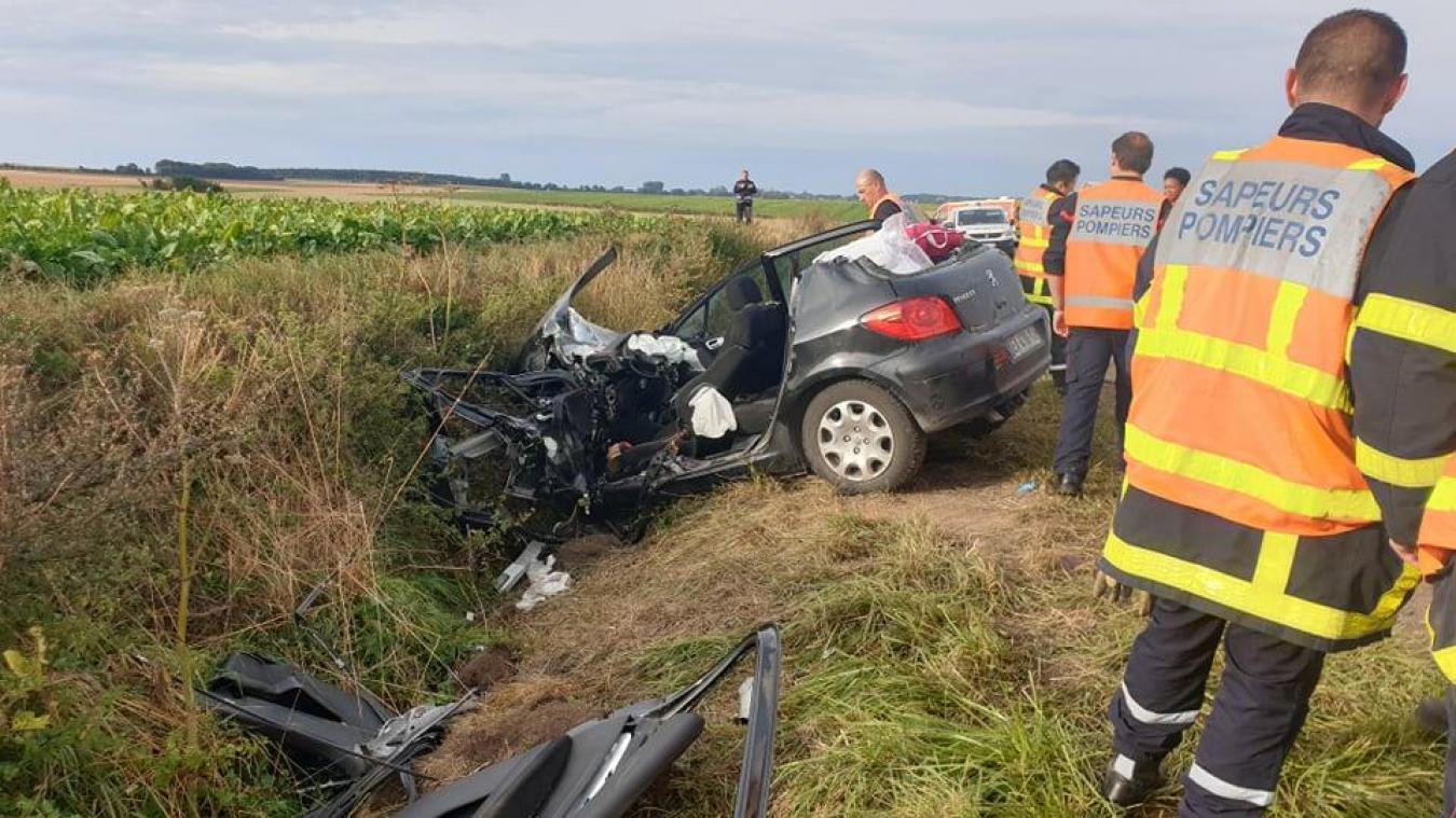 Dainville : deux blessés graves sur la RN 25