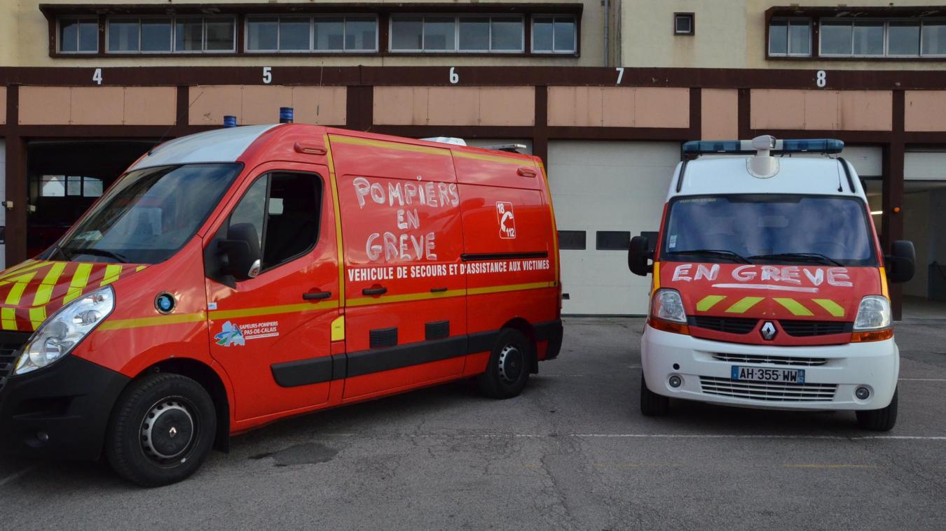 Les sapeurs-pompiers de Boulogne-sur-Mer ont rejoint le mouvement de grève national depuis le 10 septembre.