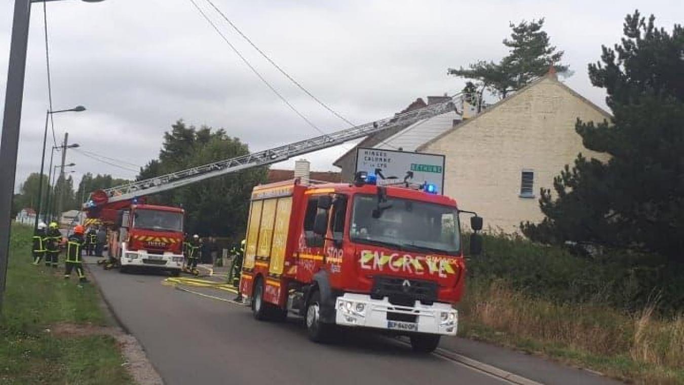 Vendin-les-Béthune: incendie chez un particulier, la victime hospitalisée (Vidéo et photos)