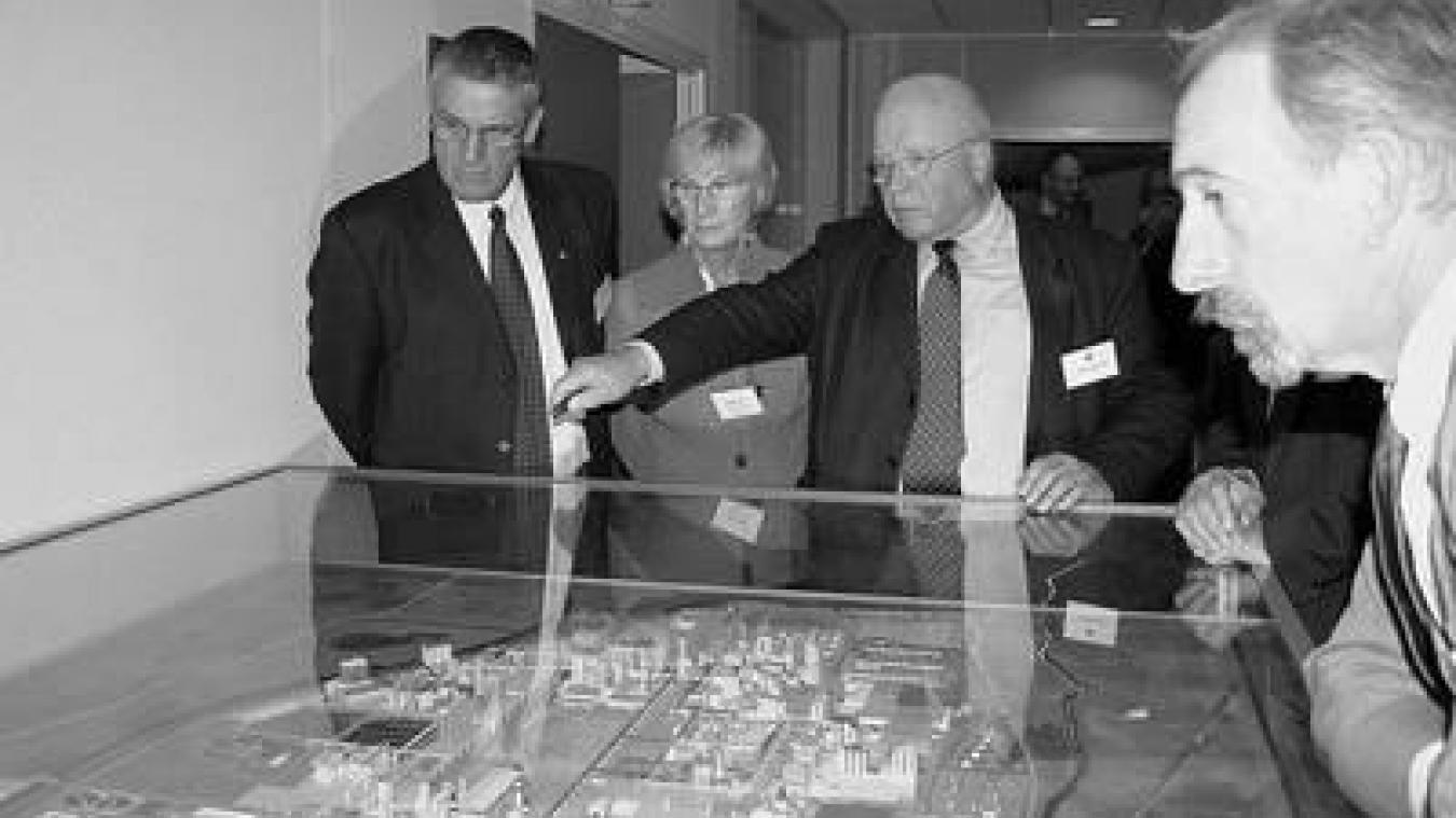 Philippe Roquette, au centre de la photo, était le fils de l'un des deux frères fondateurs de l'usine.