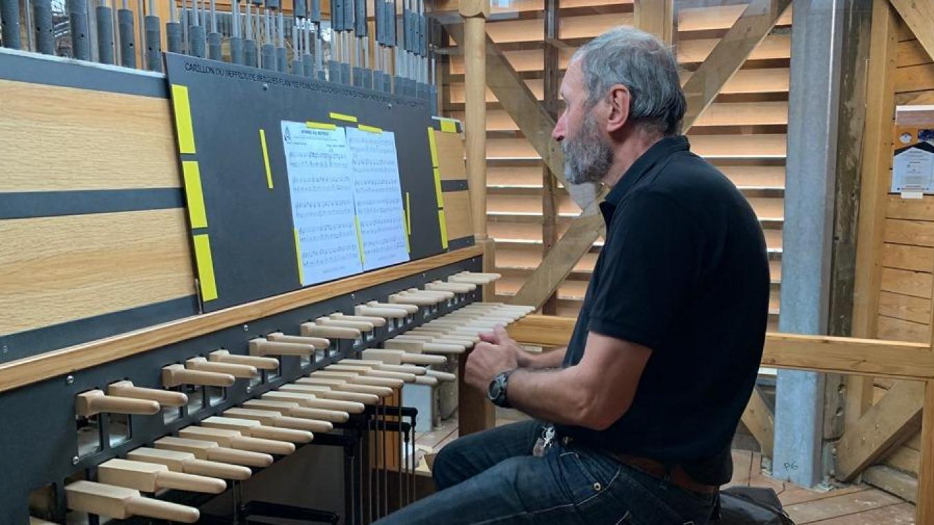 Jacques Martel était heureux de retrouver son carillon, après 23 mois de travaux.