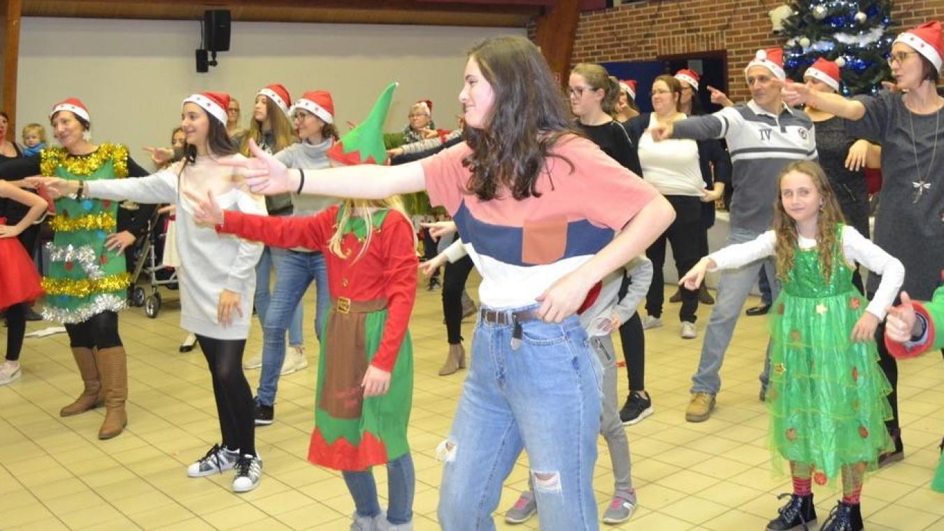 Matthias Hanon a réalisé la chorégraphie du flashmob de Noël.