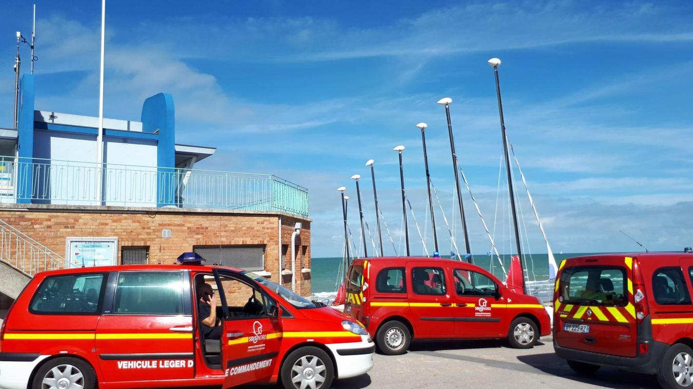 Les sapeurs-pompiers ont sauvé un nageur en difficulté.