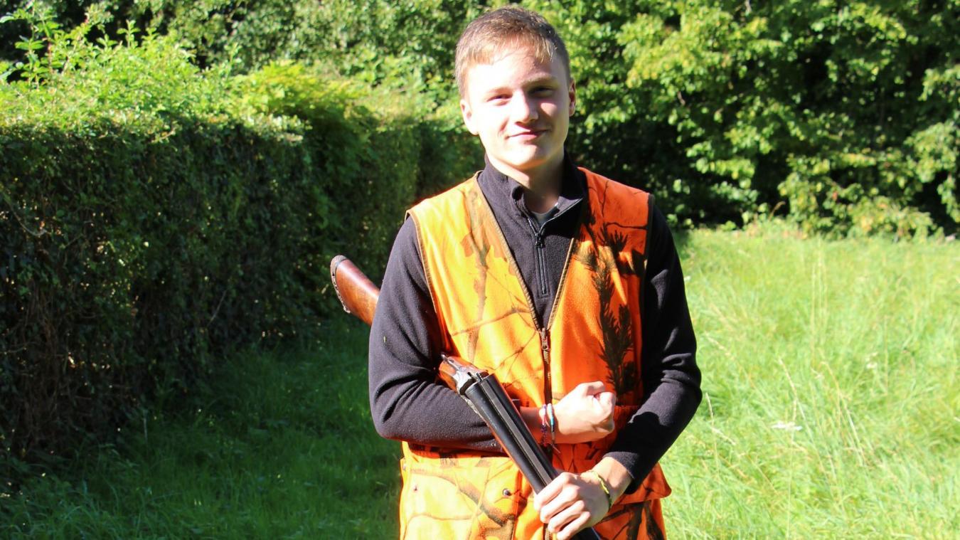 À 16 ans, Antonin vient d'obtenir son permis de chasse.