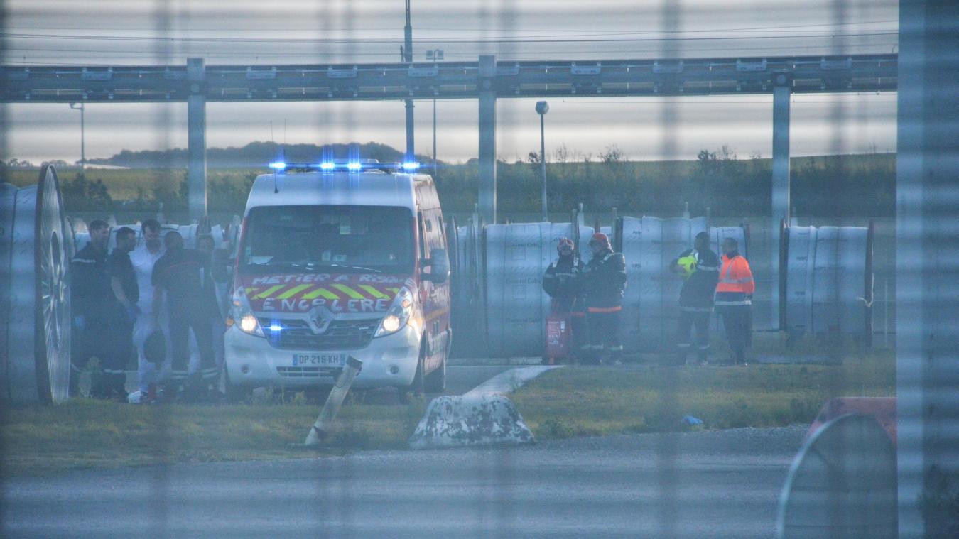 La victime a été ramenée par les pompiers à l'ancien centre de secours du Tunnel pour être héliportée.