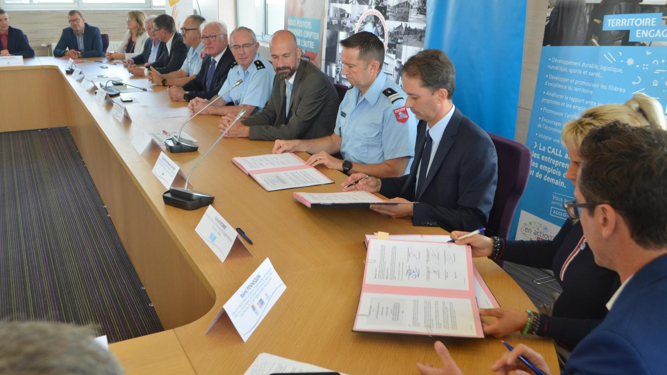 La signature de convention s'est déroulée au Sdis de Saint-Laurent-Blangy, le 12 septembre.