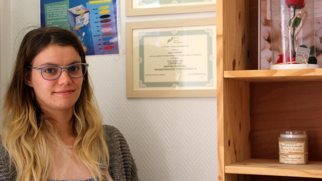 Lucie Lodigeois recentre son activité sur les marchés et les consultations d'aromathérapie.