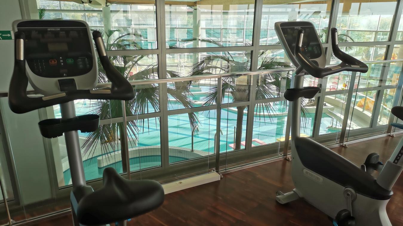 L'espace fitness se trouve dans l'ancienne salle de restauration.