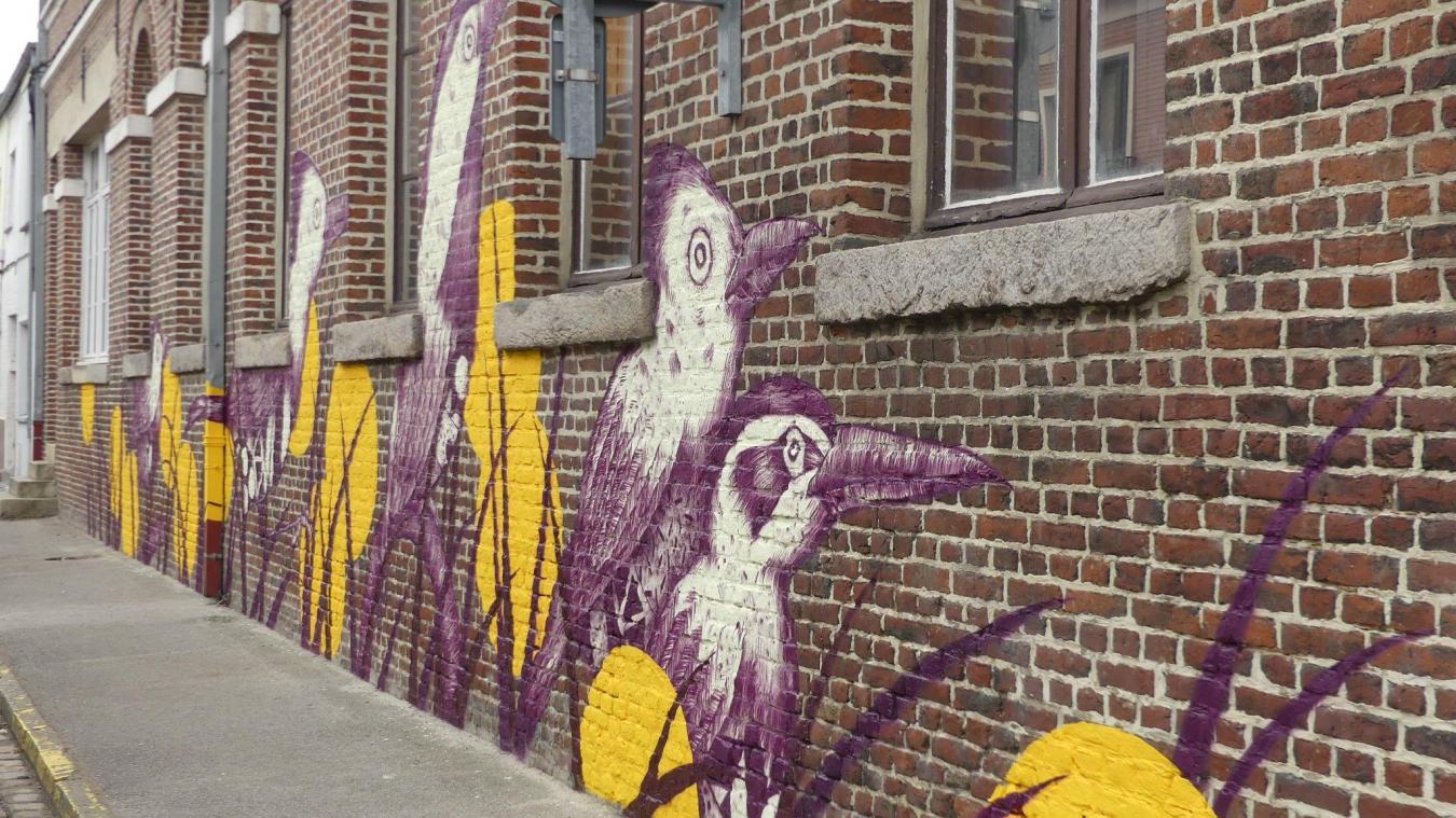 L'artiste Missy a fait une fresque rue Sébastopol.