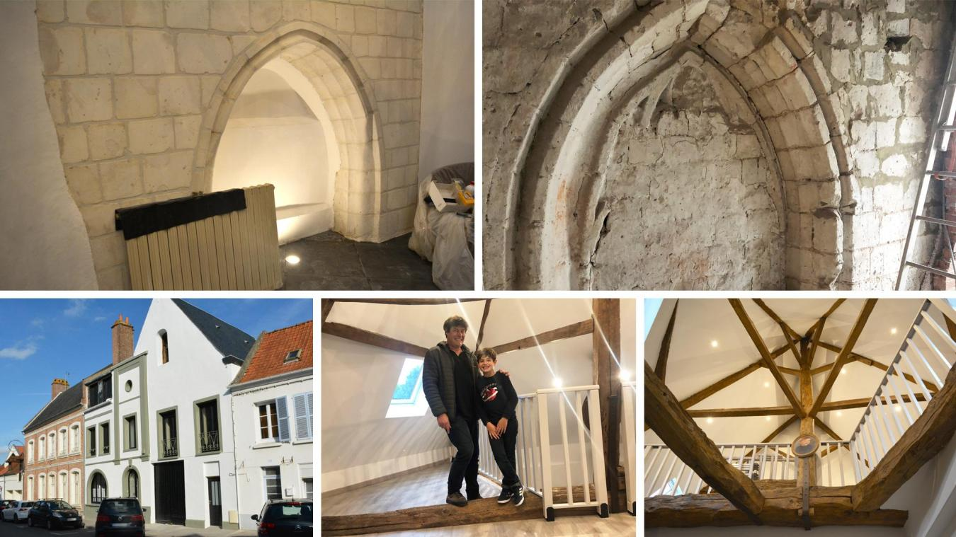 L'ancienne église Saint-Jacques est restaurée par des amoureux du patrimoine. Ici Benoît et son fils Faustin.