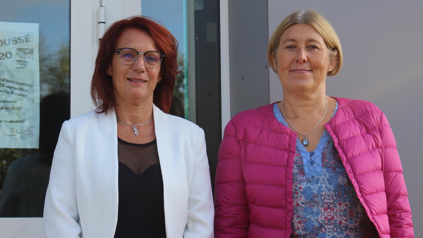 Véronique Brazy (à gauche) est la nouvelle principale. A ses côtés, Clotilde Godet, son adjointe, nouvelle elle aussi.
