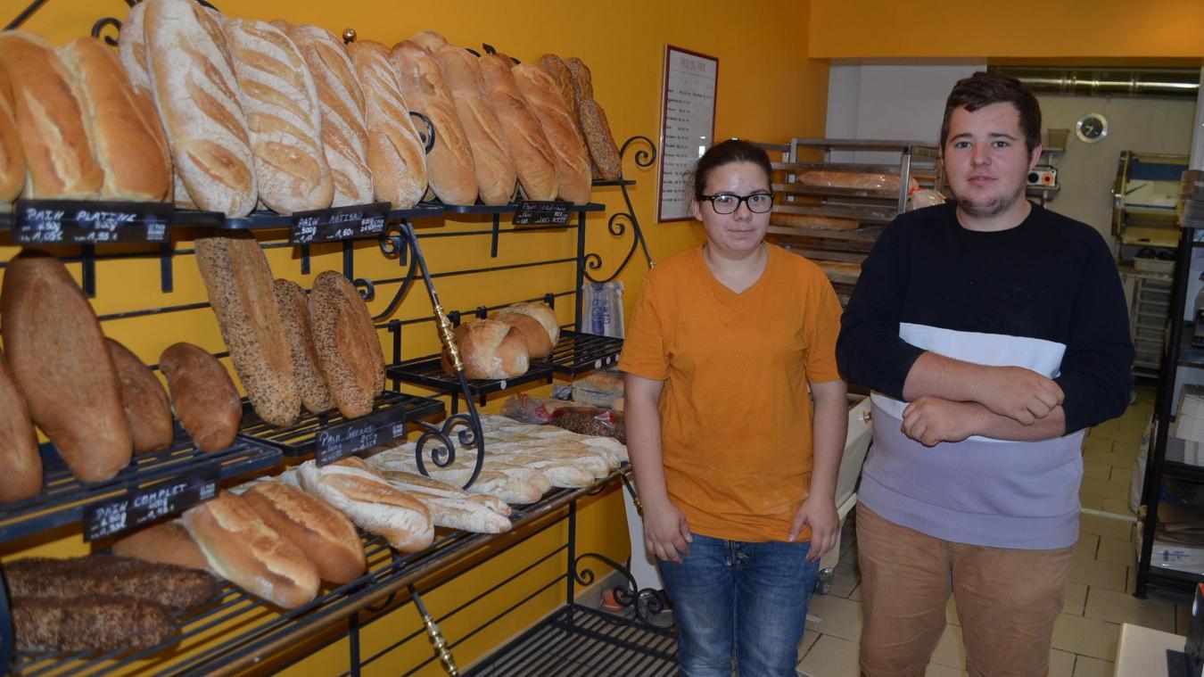 Justine et Kévin sont aux fourneaux depuis le 2 juillet. En plus de proposer des nouveautés, ils ont complètement réagencé la boulangerie et refait la façade.