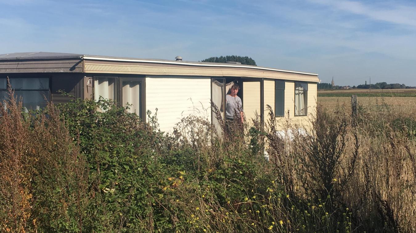 Béatrice Tillon a habité ce mobil-home de juillet 2018 à septembre 2019. Elle a aujourd'hui rejoint un foyer pour femmes.