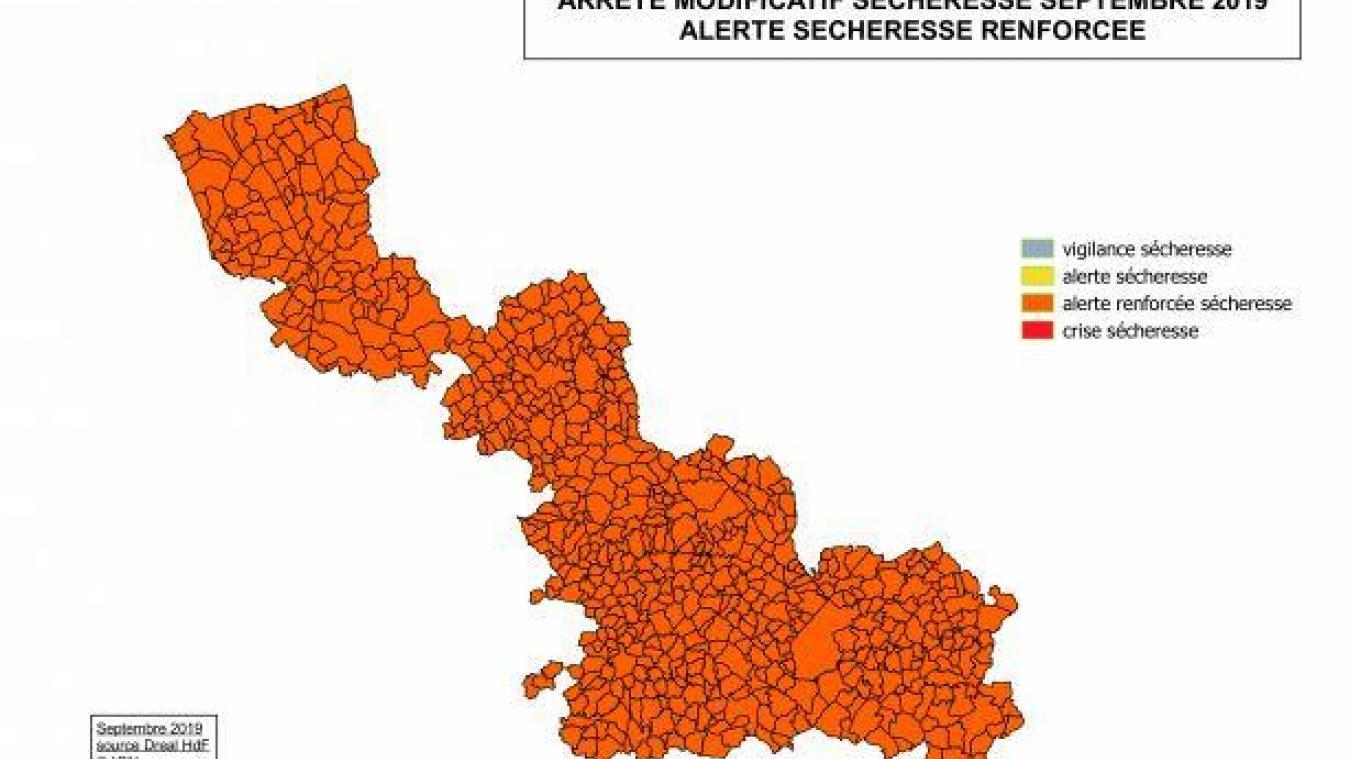 L'alerte renforcée touche toutes les communes du Nord.