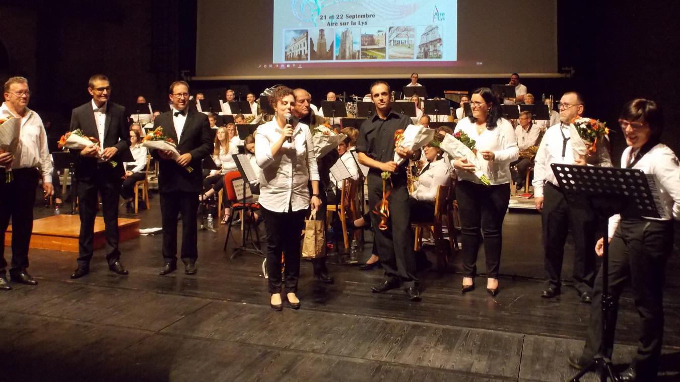 Ici samedi 21 septembre avec les harmonies airoises et isberguoises. Le dimanche, à la Collégiale, la représentation a réuni toutes les harmonies fanfares participantes. Les chefs se sont alternés pour parfaire le final