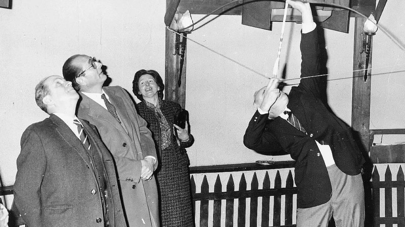 Jacques Chirac était venu à Caestre le 19 décembre 1980 en qualité de maire de Paris et député de la Corrèze. (Photo -Archives)