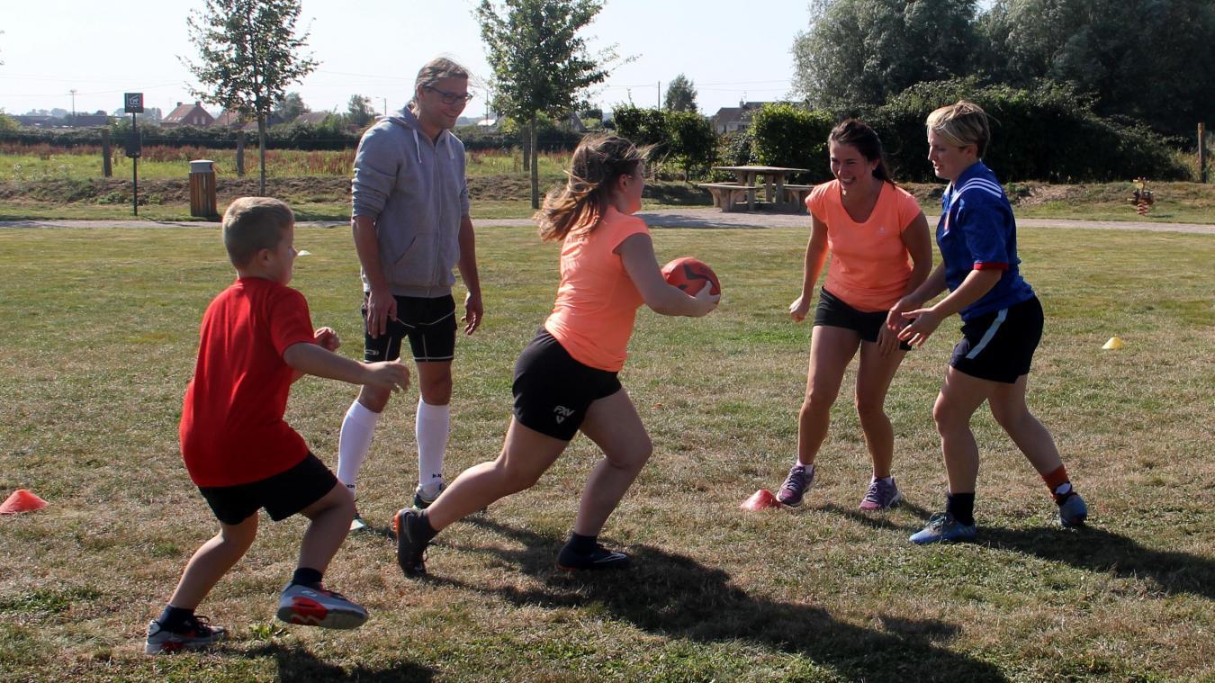 Le rugby sans contact est accessible dès l'âge de 7 ans.