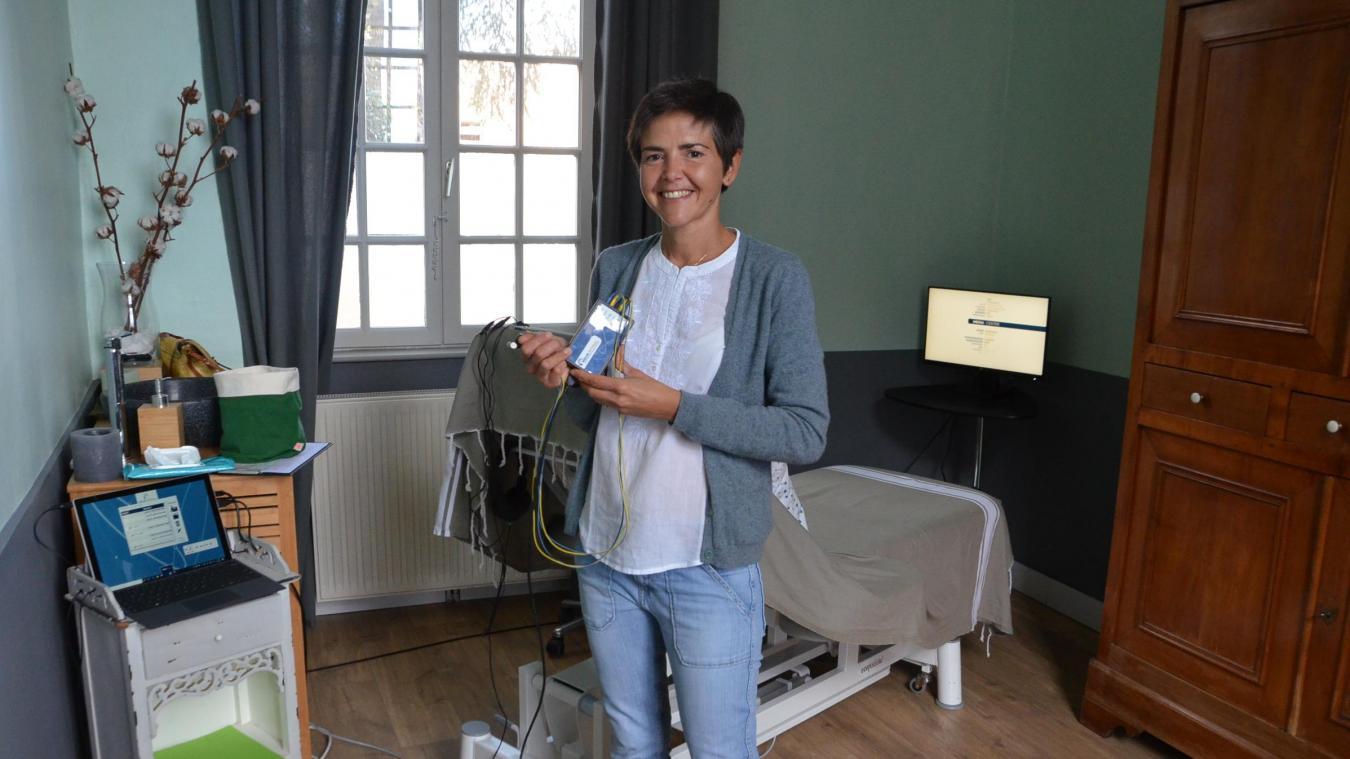 Delphine Gras, formé au neurofeedback dynamique, s'est installée à Saint-Léonard.