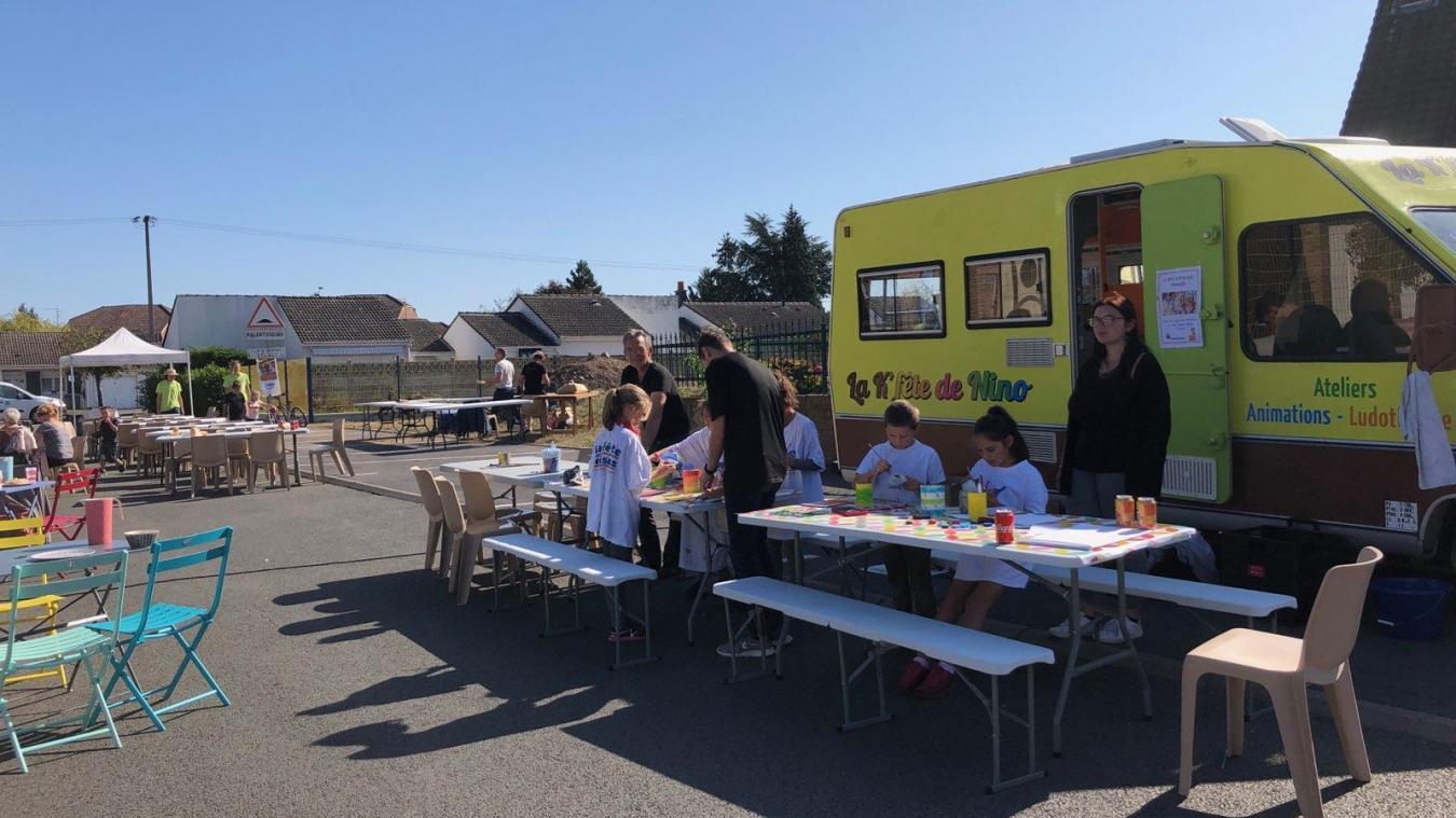 Liévin : la K'fête de Nino, une caravane mobile remplie d'activités